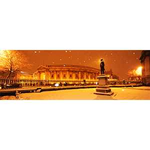 Snow, College Green
